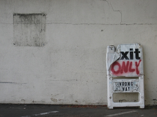 Exit Only by tony clough