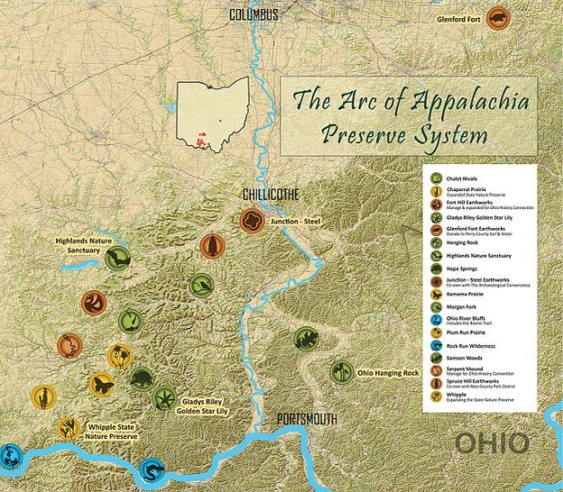 Arc of Appalachia map
