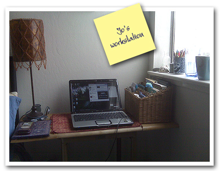 Jo's workstation