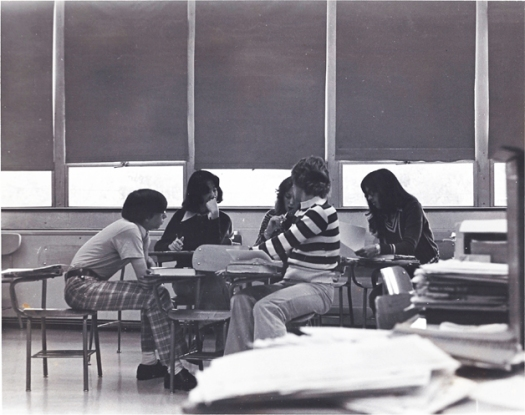 high school in the 1970s